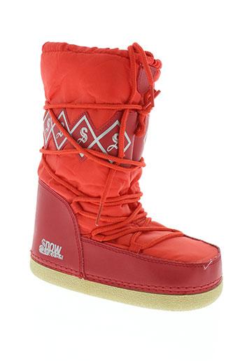 snow legend chaussures enfant de couleur rouge
