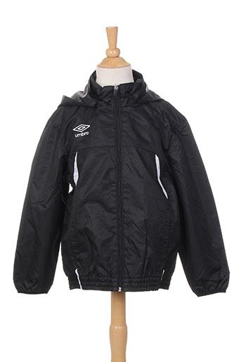 umbro manteaux garçon de couleur noir