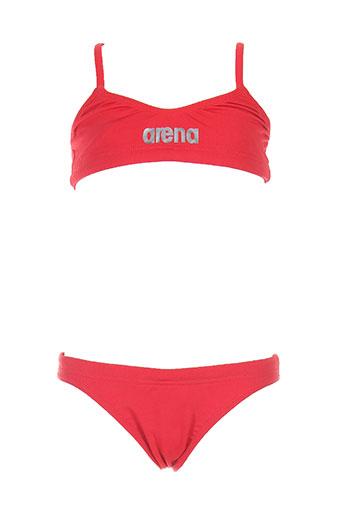 arena maillots de bain fille de couleur rouge