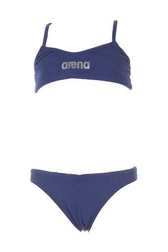 arena maillots de bain fille de couleur bleu