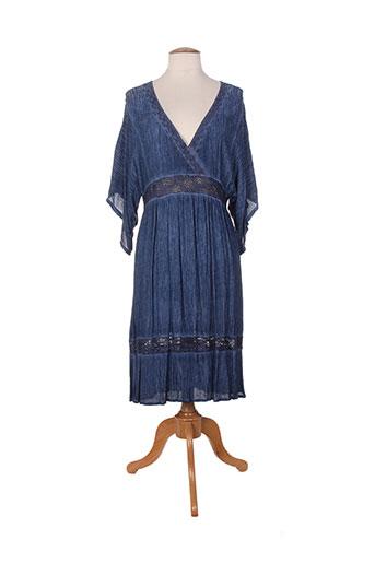 Robe mi-longue bleu ET SI.... pour femme