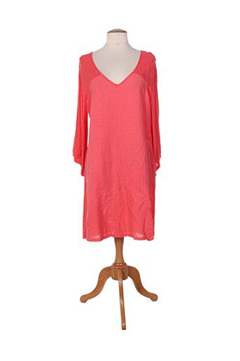Robe mi-longue rouge ET SI.... pour femme
