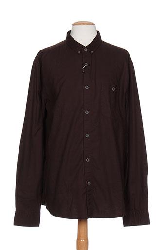 esprit chemises homme de couleur marron
