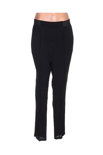 poussiere d'etole pantalons femme de couleur noir