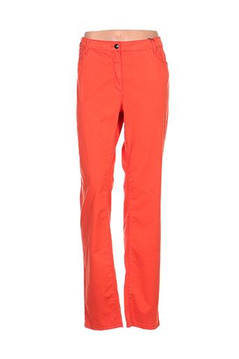 fleur de sel pantalons femme de couleur orange
