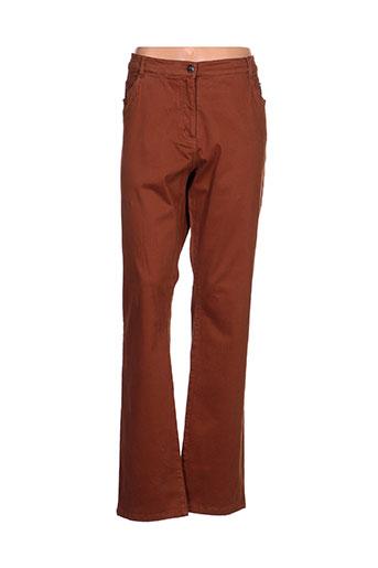 fleur de sel pantalons femme de couleur marron