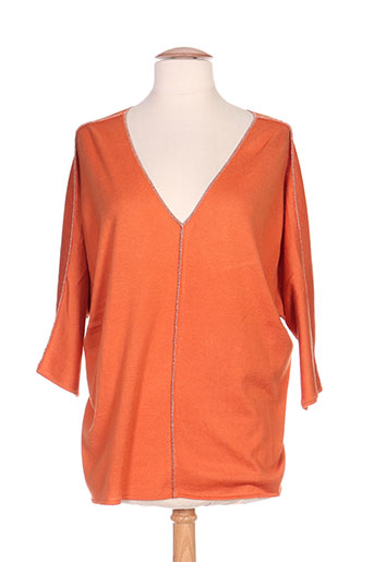 odemai pulls femme de couleur orange