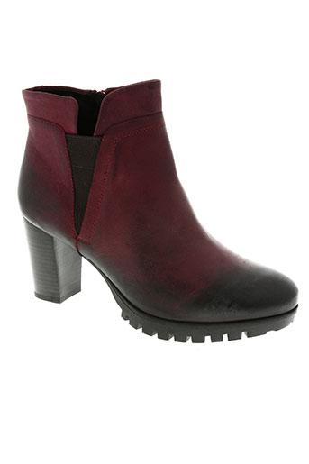 spm chaussures femme de couleur rouge