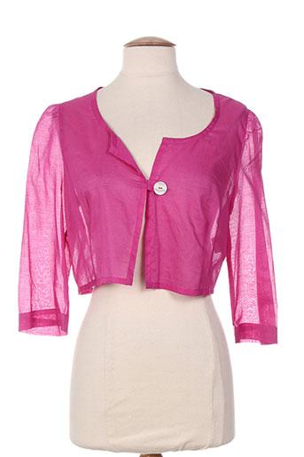 hug an' co vestes femme de couleur rose