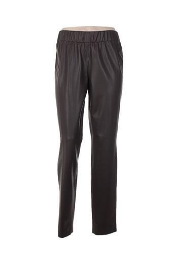 basler pantalons femme de couleur marron