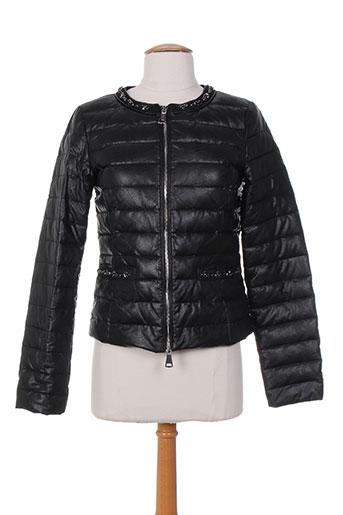 guxy manteaux femme de couleur noir