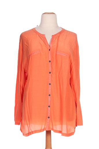 mellem chemises femme de couleur orange