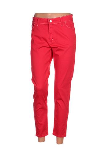 cowest pantacourts femme de couleur rouge