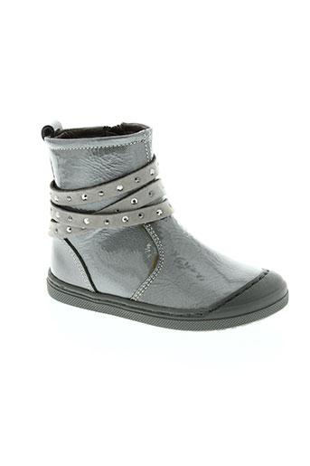 romagnoli chaussures fille de couleur gris