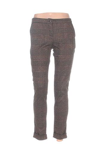 miss sidecar pantalons femme de couleur marron