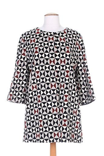 Manteau long rouge MANILA GRACE pour femme