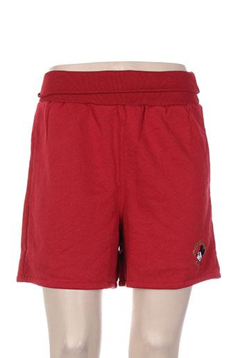 michel bachoz shorts / bermudas garçon de couleur rouge