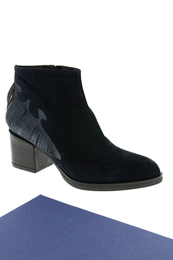 bisous confiture chaussures femme de couleur bleu