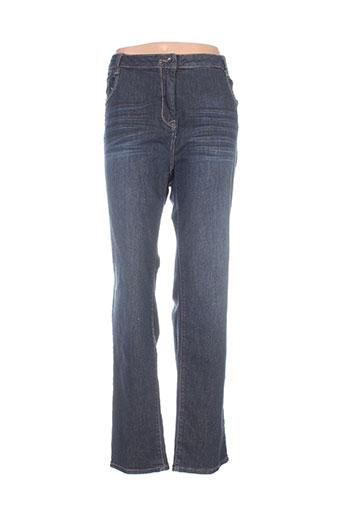 carmen jeans femme de couleur bleu