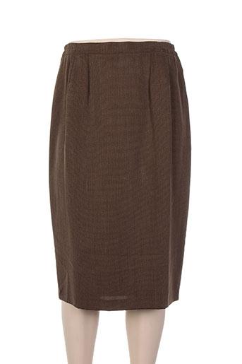 Jupe mi-longue marron EVA NEGRI pour femme