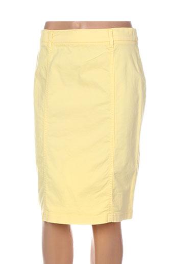 pauporté jupes femme de couleur jaune