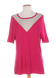 Pull col rond rose COLEEN BOW pour femme