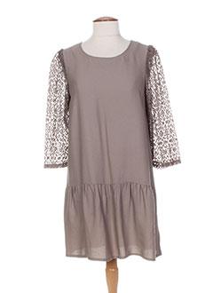 Robe courte marron COLEEN BOW pour femme