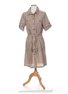 Robe mi-longue beige COLEEN BOW pour femme