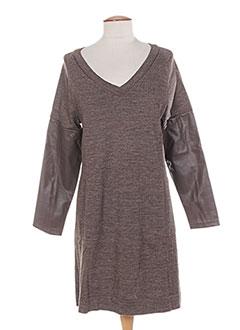 Robe pull marron COLEEN BOW pour femme