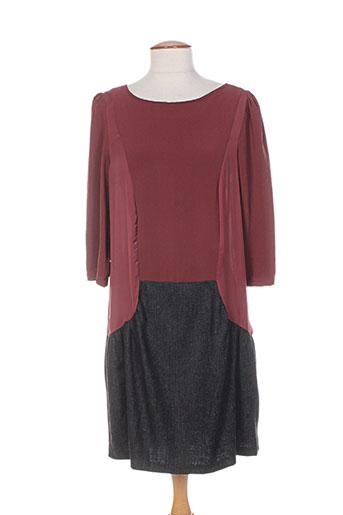 Robe mi-longue marron COLEEN BOW pour femme