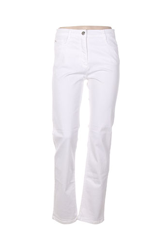 betty blue pantalons femme de couleur blanc