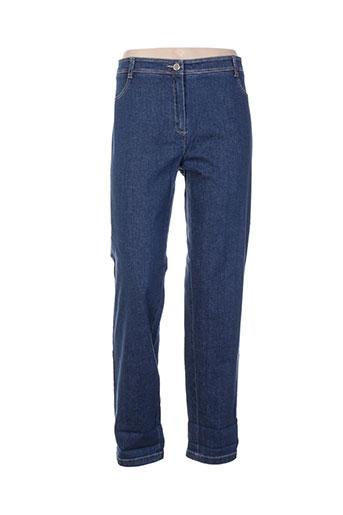 divas jeans femme de couleur bleu