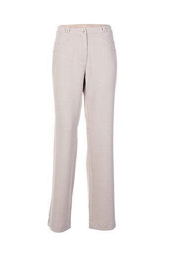 divas pantalons femme de couleur beige