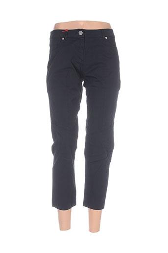 mybo pantalons femme de couleur noir