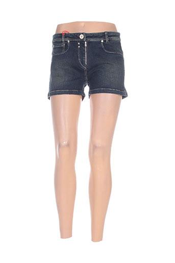 mybo shorts / bermudas femme de couleur bleu