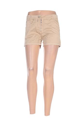 mybo shorts / bermudas femme de couleur beige