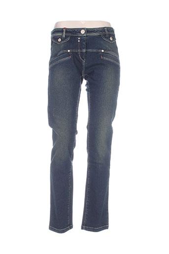 mybo jeans femme de couleur bleu