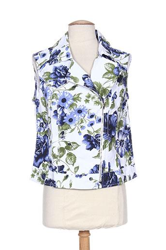 Veste casual bleu MYBO pour femme