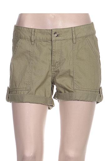 roxy girl shorts / bermudas femme de couleur vert