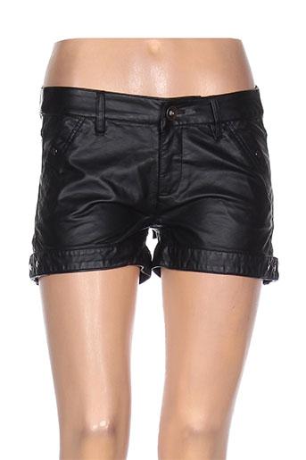 2 elles shorts / bermudas femme de couleur noir