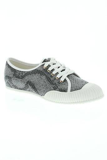 licean chaussures femme de couleur gris