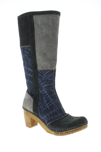 art chaussures femme de couleur bleu