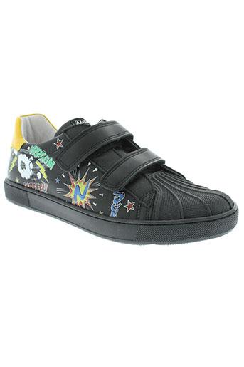 naturino chaussures garçon de couleur noir