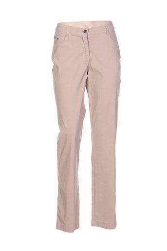 top secret pantalons femme de couleur beige