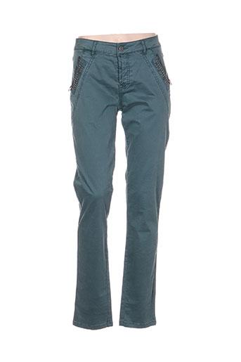 top secret pantalons femme de couleur bleu