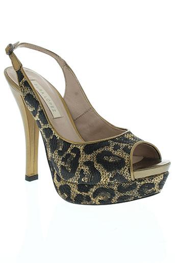 pura lopez chaussures femme de couleur marron