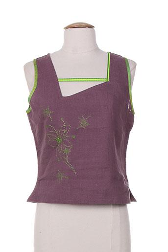 zelti chemises femme de couleur violet