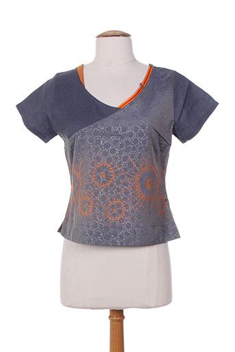 zelti chemises femme de couleur bleu