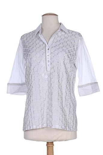 just white chemises femme de couleur gris