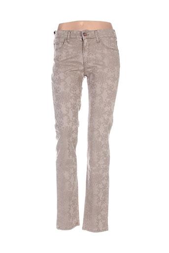 desgaste pantalons femme de couleur beige
